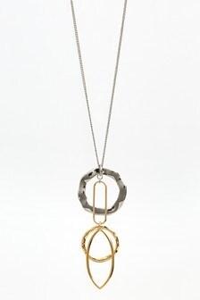 Shapes Long Pendant Necklace
