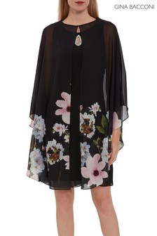 Gina Bacconi Black Malena Dress And Jacket