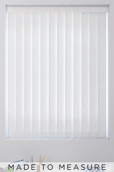 Leaf Design White Made To Measure Vertical Blind