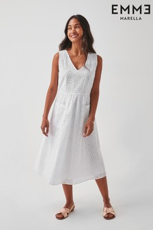 Emme by Marella White Broderie Angliase Leone Dress
