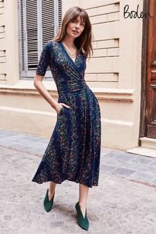 Boden Blue Kassidy Jersey Midi Dress