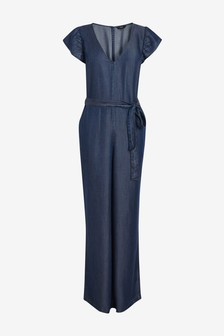 TENCEL™ Frill Detail Jumpsuit
