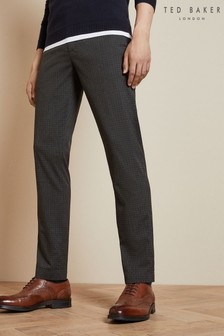 Ted Baker Grey Slim Check Trousers