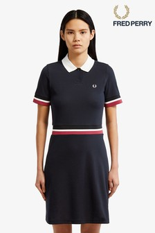 Fred Perry Black Bold Tipped Pique Polo Dress