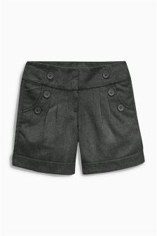 Button Detail Shorts (3-16yrs)