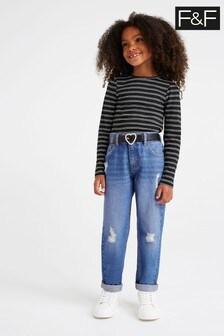 F&F Kids Denim Rip And Repair Jeans