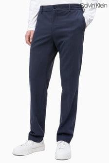 Calvin Klein Blue Soft Gabardine Drawstring Trousers