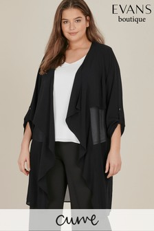 Evans Curve Black Waterfall Jacket