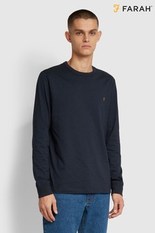 Farah Blue Worthington Long Sleeve T-Shirt