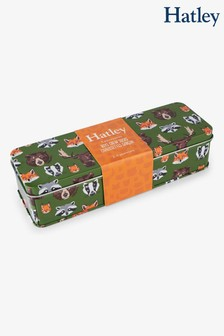 Hatley Green Boys Crew Socks Five Pack Gift Tin