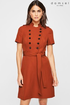 Damsel In A Dress Orange Button Detail Dress