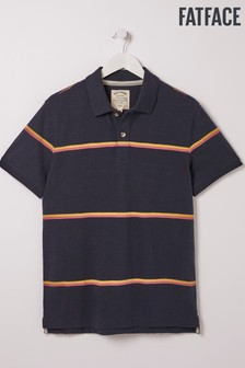 FatFace Blue Fine Stripe Polo
