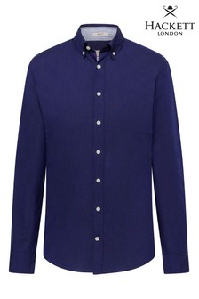 Hackett Blue Slim Fit Hkt Super Oxford Shirt