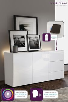 Frank Olsen Smart LED White Sideboard