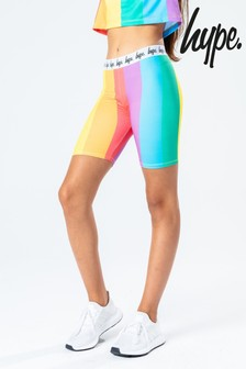 Hype. Rainbow Stripe Kids Cycle Shorts