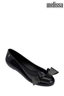 Melissa Black Glitter Space Love Pumps