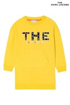 The Marc Jacobs Yellow Logo Sweatshirt Dress