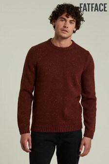 FatFace Orange Bramley Nep Crew Sweater