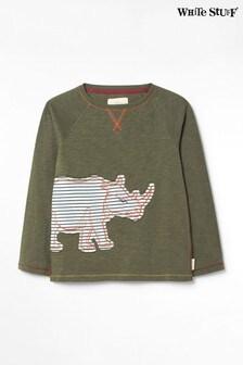 White Stuff Green Kids Rhino Jersey T-Shirt