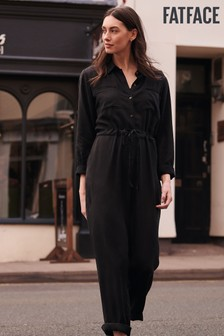 FatFace Black Jackie Shirt Jumpsuit