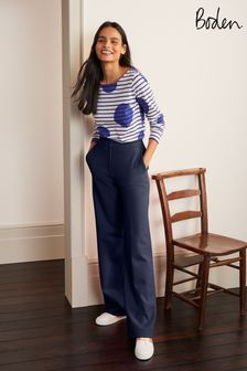 Boden Blue Hampshire Ponte Trousers