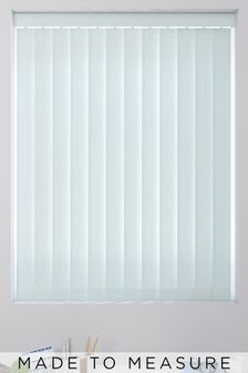 Waterproof Powder Blue Made To Measure Vertical Blind