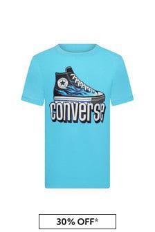 Converse Boys Blue Cotton T-Shirt