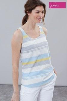 Joules Blue Bo Stripe Jersey Vest