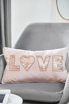 Beaded Love Cushion