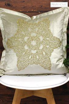 Woodland Snowflake Cushion by Riva Home