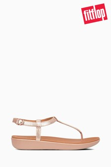 FitFlop™ Pink Tia Toe Thong Leather Sandal