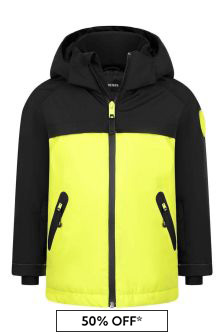Boys Black/Neon Yellow Ski Jacket