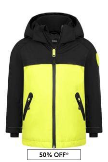 Diesel Boys Black/Neon Yellow Ski Jacket