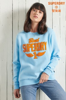 Superdry Stone Wash Graphic Crew Sweatshirt
