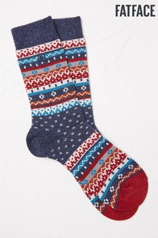 Fairisle Pattern Boot Socks