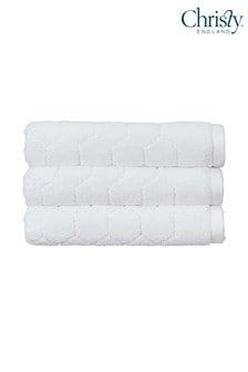 Set of 2 Christy Honeycomb Geometric Towels