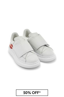 Alexander Mcqueen Girls White 100% Leather Trainers