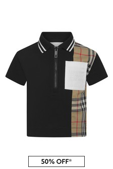 Burberry Kids Baby Boys Cotton Poloshirt