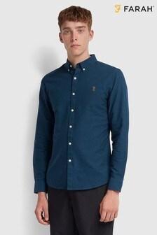 Farah Blue Brewer Oxford Shirt