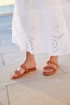 Forever Comfort® Plaited Mule Sandals