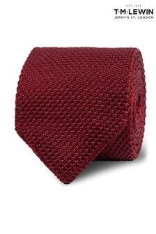 T.M. Lewin Burgundy Knitted Silk Tie