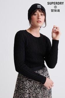 Superdry Black Croyden Knitted Jumper