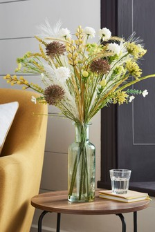 Artificial Floral Mix in Glass Vase