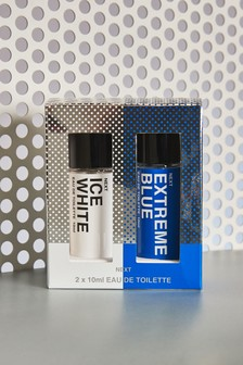 Ice White And Extreme Blue 10ml Duo Eau De Toilette