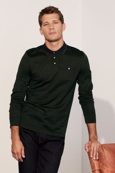 Long Sleeve Smart Slim Fit Polo