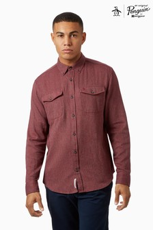 Original Penguin® Long Sleeve Jaspe Flannel Shirt