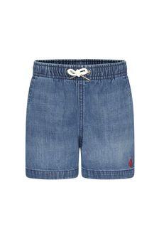 Ralph Lauren Kids Boys Blue Cotton Shorts
