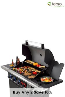 Keansburg 4 Burner Gas BBQ with Turbo Zone and Side Burner By Tepro