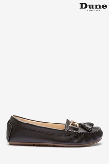 Dune London Geena Leather Tassel Detail Moccasin Loafers