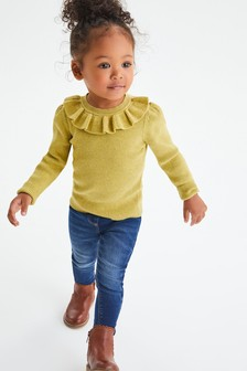 Frill Neck Knitted Top (3mths-7yrs)